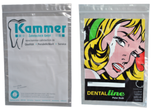 Dentalbeutel bedrucken lassen