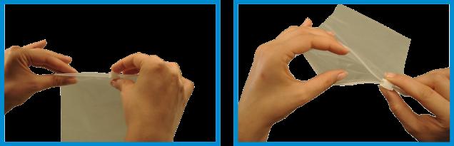 Gleitverschlussbeutel mit praktischem weißem Schieber