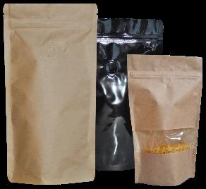 Standbodenbeutel und Doypack mit Aromaschutzventil oder Sichtfenster